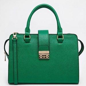 ASOS Green Smart Handheld Bag with Push Lock